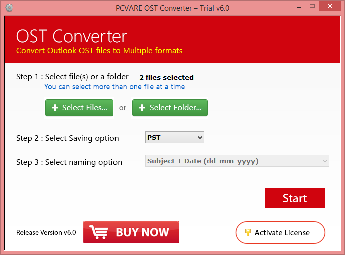 OST to PST Converter screenshot