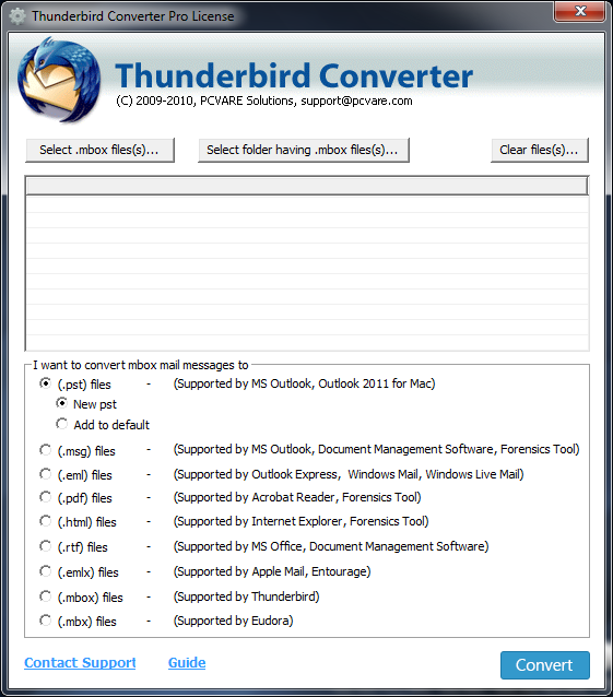 Thunderbird to Windows Live Mail 7.4